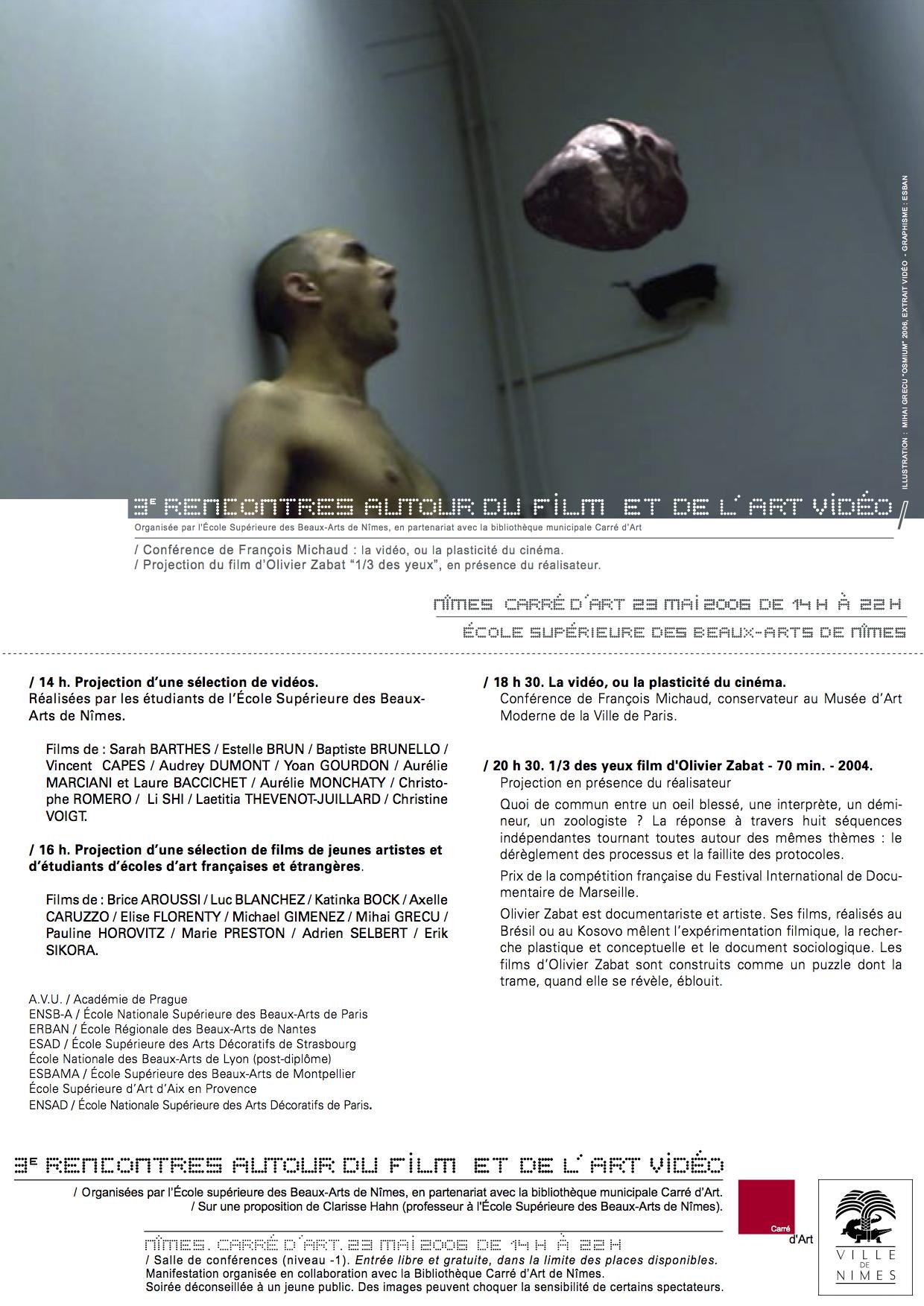 2006 Rencontres autour du film et art video